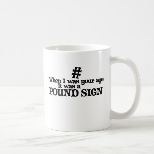 Hashtag pound sign humor coffee mug zazzle for Office design hashtags