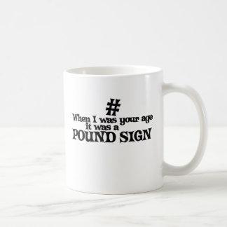 Hashtag pound sign humor coffee mug
