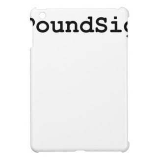 Hashtag Pound Sign iPad Mini Covers