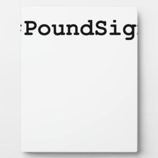 Hashtag Pound Sign Plaque