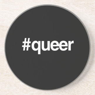 HASHTAG QUEER DRINK COASTER