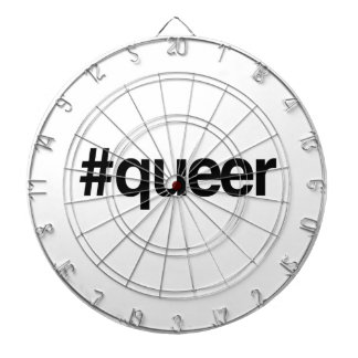 HASHTAG QUEER -.png Dartboard With Darts