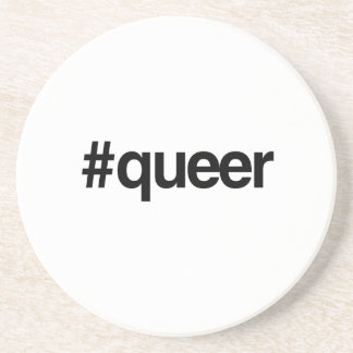 HASHTAG QUEER -.png Drink Coaster