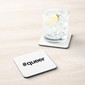 HASHTAG QUEER -.png Drink Coasters