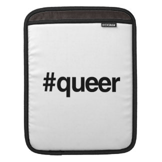 HASHTAG QUEER -.png iPad Sleeves