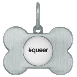 HASHTAG QUEER -.png Pet Name Tag