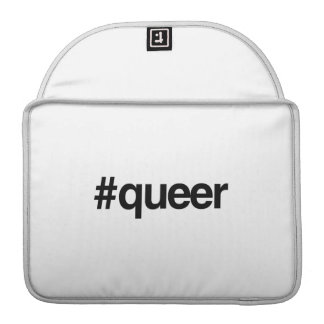 HASHTAG QUEER -.png Sleeves For MacBooks
