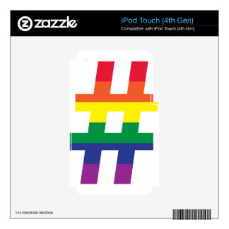 Hashtag Rainbow Flag Decals For iPod Touch 4G