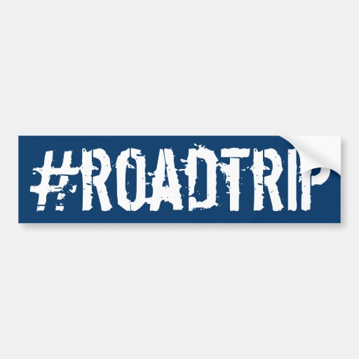 Hashtag roadtrip bumper sticker