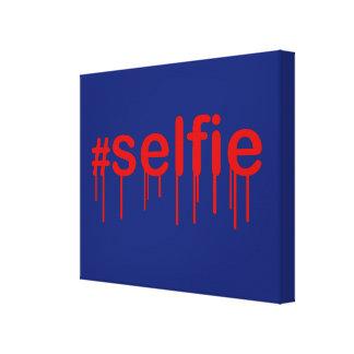 Hashtag Selfie Drooling on blue decor