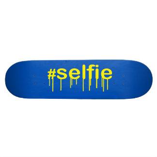 Hashtag Selfie Drooling on blue decor Skateboard Decks
