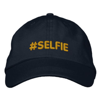 Hashtag Selfie Embroidered Hats