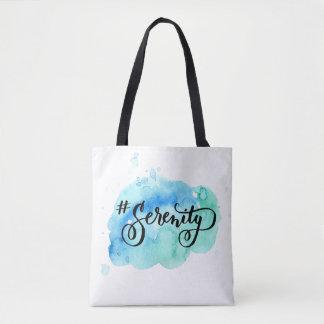 Hashtag # Serenity Tote Bag