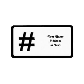 #HASHTAG - símbolo de la etiqueta del hachís Etiqueta De Dirección