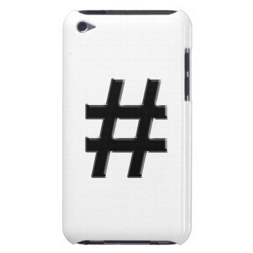 #HASHTAG - símbolo de la etiqueta del hachís Barely There iPod Funda