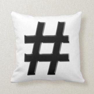 #HASHTAG - símbolo de la etiqueta del hachís Cojín Decorativo