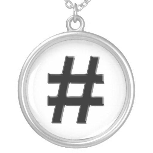 #HASHTAG - símbolo de la etiqueta del hachís Colgante Redondo