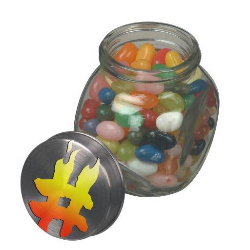 #HASHTAG - símbolo de la etiqueta del hachís en el Jarras De Cristal Jelly Bely