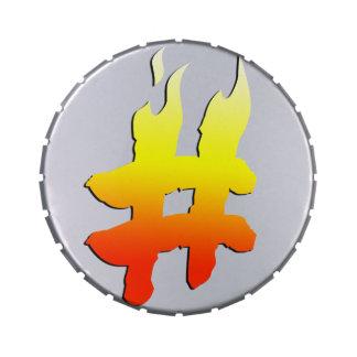 #HASHTAG - símbolo de la etiqueta del hachís en el Jarrones De Dulces