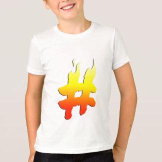 #HASHTAG - símbolo de la etiqueta del hachís en el Playera