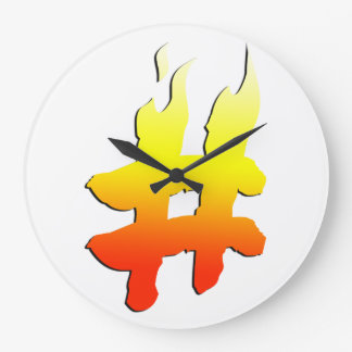 #HASHTAG - símbolo de la etiqueta del hachís en el Relojes