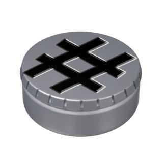 #HASHTAG - símbolo de la etiqueta del hachís Jarrones De Caramelos