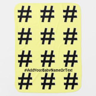 #HASHTAG - símbolo de la etiqueta del hachís Mantita Para Bebé