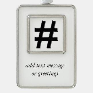 #HASHTAG - símbolo de la etiqueta del hachís Adornos Con Foto