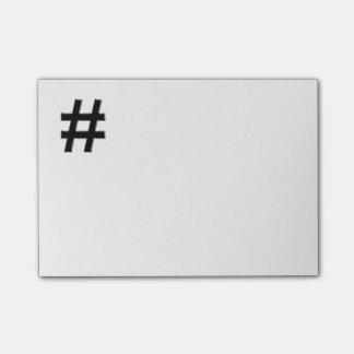 #HASHTAG - símbolo de la etiqueta del hachís Notas Post-it®