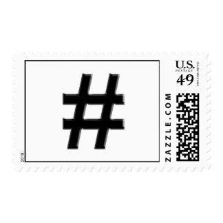 #HASHTAG - símbolo de la etiqueta del hachís Sellos Postales