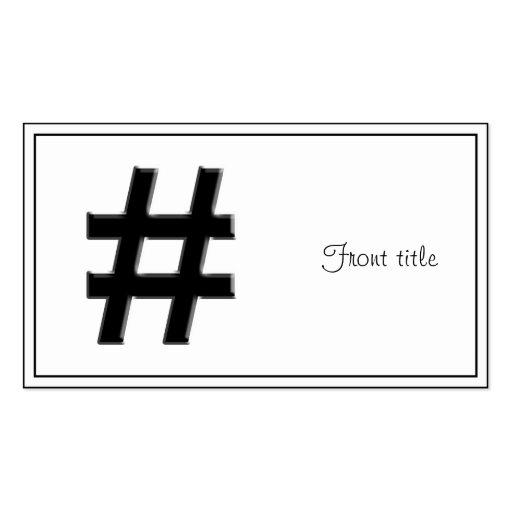 #HASHTAG - símbolo de la etiqueta del hachís Tarjetas De Visita