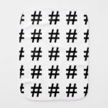 #HASHTAG - símbolo de la etiqueta del hachís Paños De Bebé