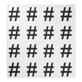 #HASHTAG - símbolo negro de la etiqueta del hachís Bandana