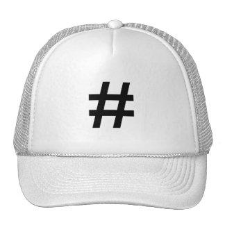 #HASHTAG - símbolo negro de la etiqueta del hachís Gorro De Camionero
