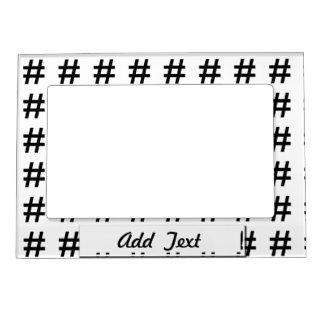 #HASHTAG - símbolo negro de la etiqueta del hachís Marcos Magnéticos De Fotos