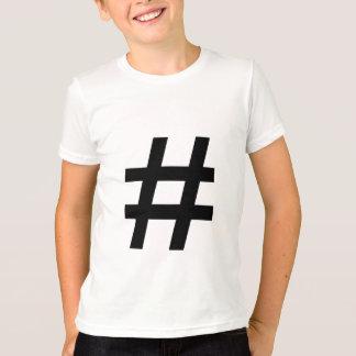 #HASHTAG - símbolo negro de la etiqueta del hachís Playera