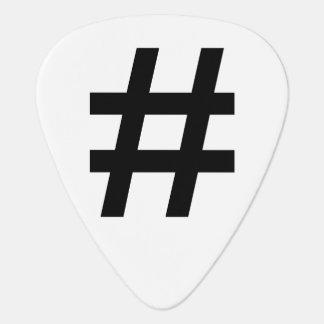 #HASHTAG - símbolo negro de la etiqueta del hachís Púa De Guitarra