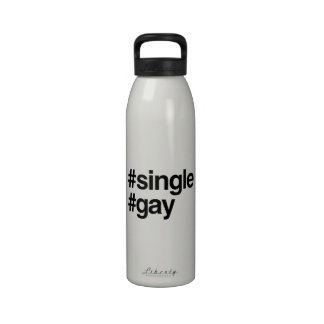 HASHTAG SINGLE GAY -.png Water Bottle