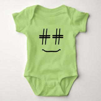 # Hashtag Smiley Face Cute Funny Social Media Baby Bodysuit