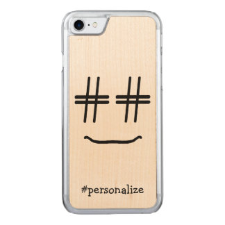 # Hashtag Smiley Face Social Media Carved iPhone 8/7 Case