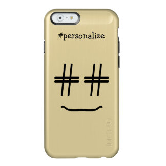 # Hashtag Smiley Face Social Media Personalized Incipio Feather Shine iPhone 6 Case