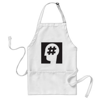 hashtag stuck in a head adult apron