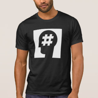 hashtag stuck in a head tshirt
