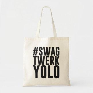 Hashtag Swag Twerk Yolo Tote Bag