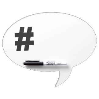 # Hashtag Symbol Number Sign Pound Key Tag Dry Erase Board