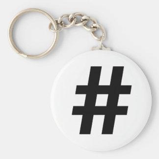 HASHTAG SYMBOL -.png Keychain