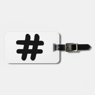 Hashtag Tag For Luggage