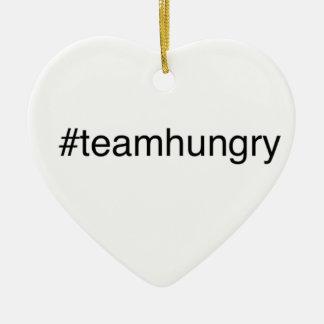 hashtag team ceramic ornament