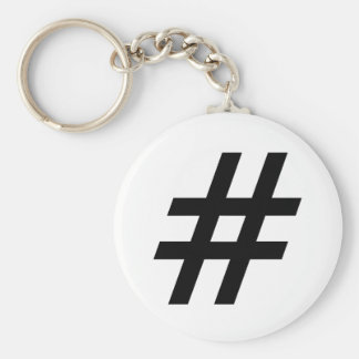 hashtag text symbol letter hash tag keychain