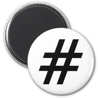 hashtag text symbol letter hash tag magnet